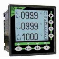 Analyseurs de réseaux affichage LCD, format 96x96 mm